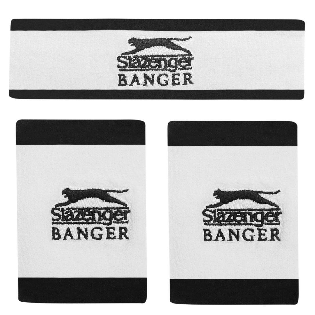 5deac59877 Image is loading Slazenger-Banger-Sweatband-Set-Unisex