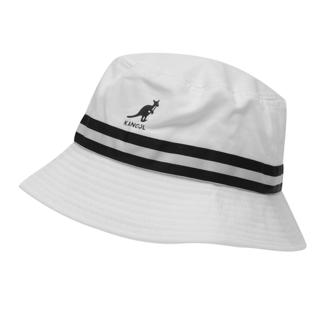 34498b5ec397a Details about Kangol Mens Stripe Bucket Hat Cotton