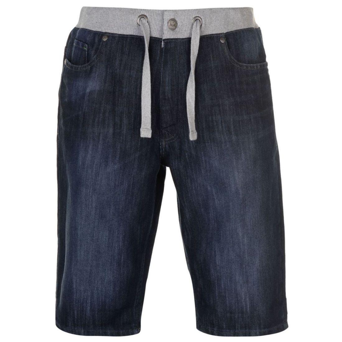 No-Fear-Mens-Denim-Shorts-Pants-Trousers-Bottoms-Zip-Warm-Drawstring-Elasticated thumbnail 3