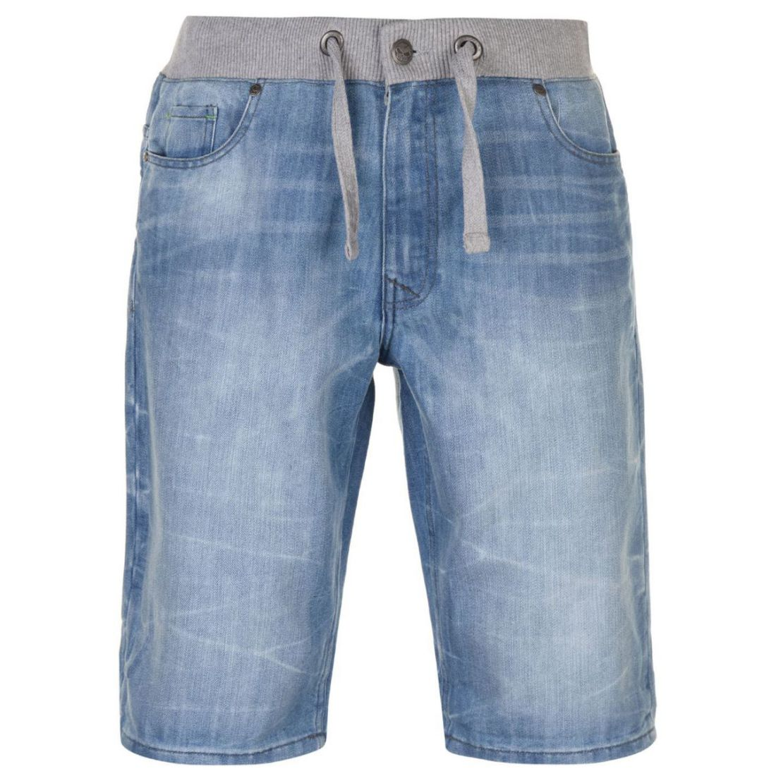 No-Fear-Mens-Denim-Shorts-Pants-Trousers-Bottoms-Zip-Warm-Drawstring-Elasticated thumbnail 6
