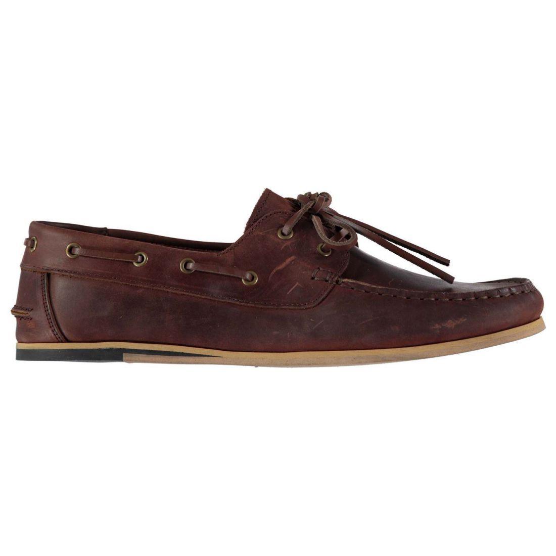 86d05d940d Firetrap Mens Avisos Boat Shoes Lace Up Classic Stitched Detailing ...