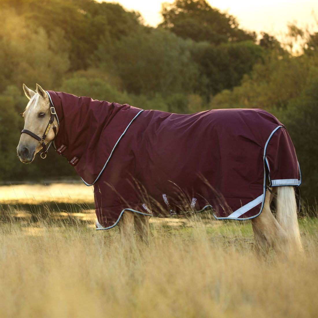 Rambo Duo Heavy Turnout Horse Rug Waterproof Breathable Hooded Robinsons New