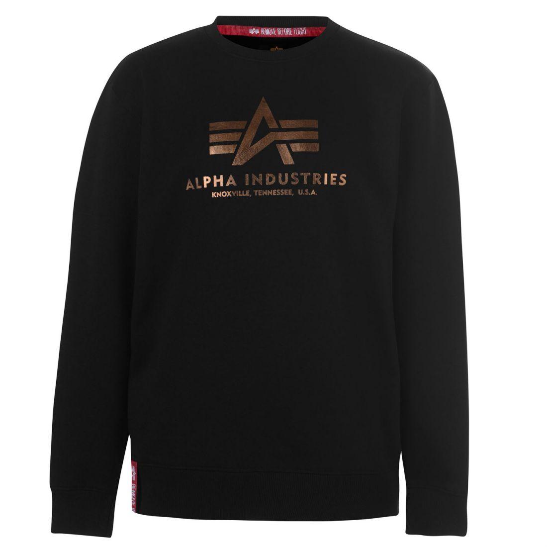 798fe3775 Mens Alpha Industries Basic Sweater Crew Long Sleeve New | eBay