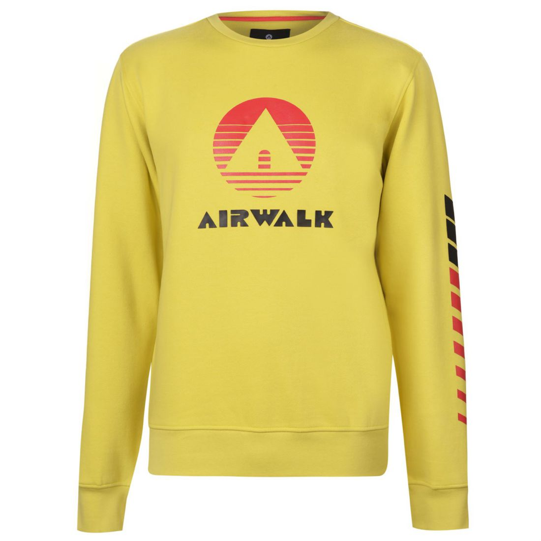 Airwalk Retro Pullover Mens Gents Crew Jumper Full Length Sleeve Neck Pattern Angenehm Im Nachgeschmack