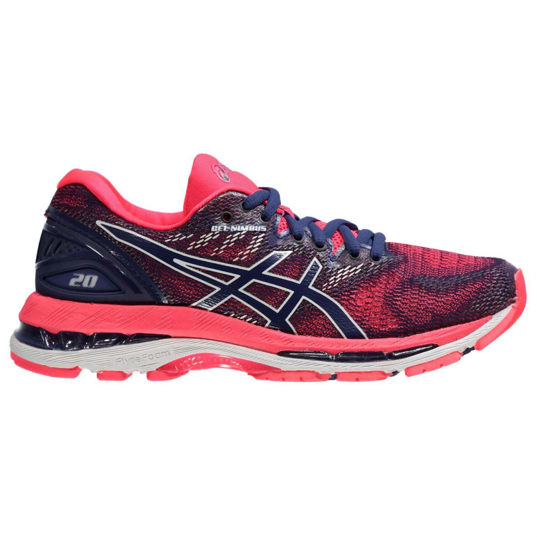 bfc35e824 Asics Womens Gel Nimbus 20 Running Shoes Road Lightweight Ortholite ...