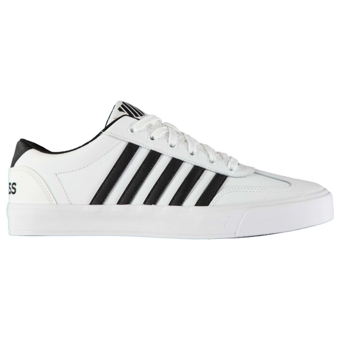 huge discount 06462 83f30 Details about K Swiss Addison Vulc Sneakers Mens Gents Court Laces Fastened  Padded Ankle