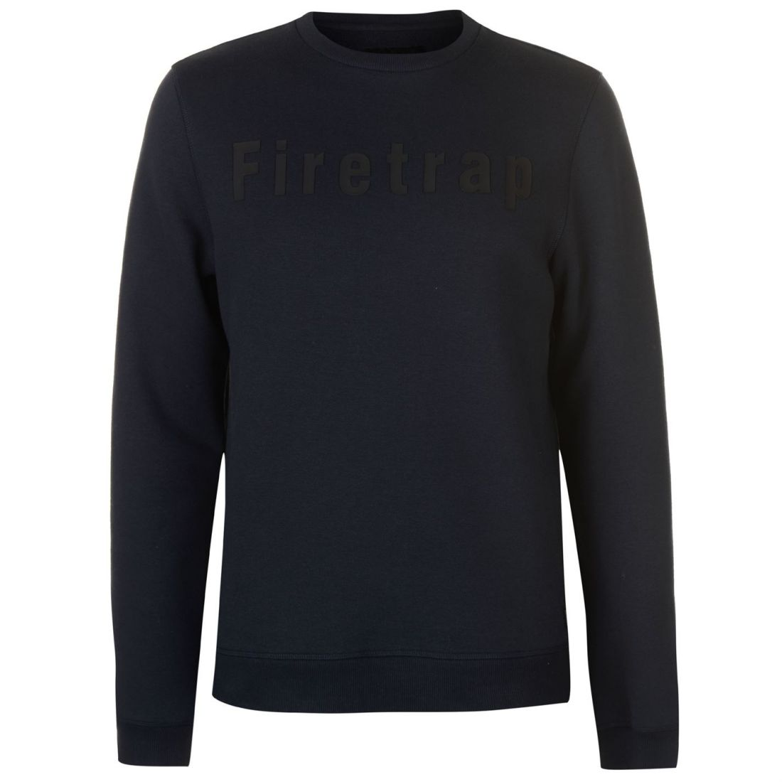 GroßZüGig Firetrap Graphic Crew Pullover Mens Gents Jumper Full Length Sleeve Neck Jersey