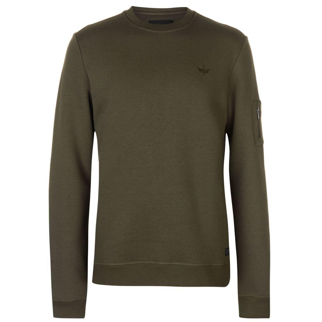 Firetrap Crew Neck Sweatshirt Mens Gents Pullover T Shirt Tee Top Jumper Full