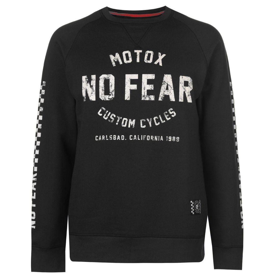 40b951f58 No Fear Mens Custom Motox Crew Sweater Jumper Pullover Long Sleeve ...