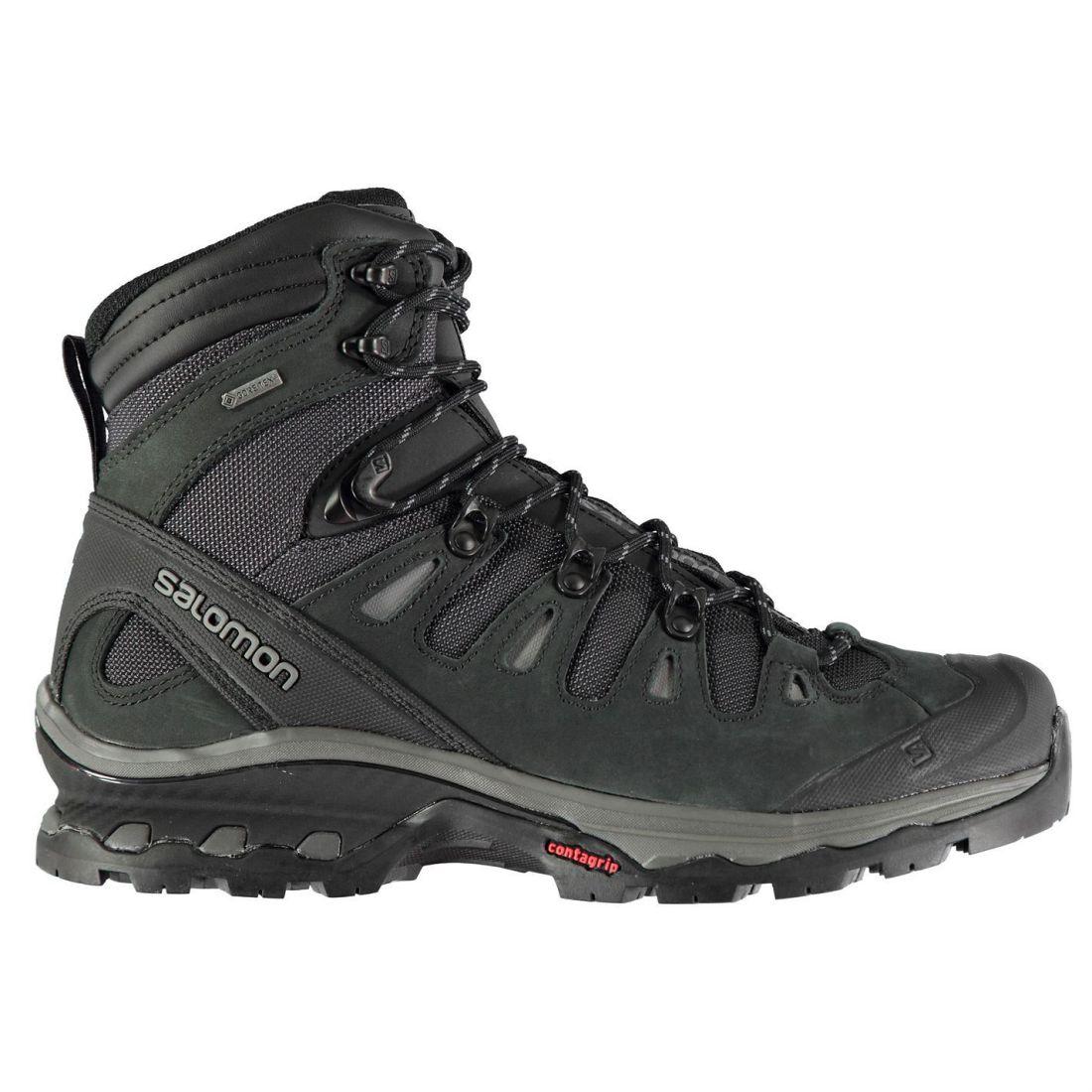 Salomon Quest 4D 3 GTX Caminar botas Para Hombres Caballeros Cordones atados Ventilado De Agua