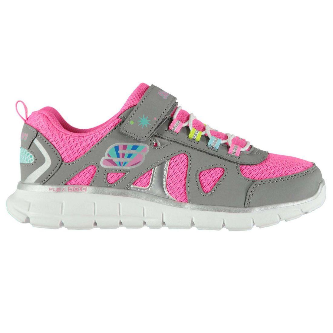 c3ec6e6bc Skechers Kids Vim Brite Childs Trainers Runners Elasticated Laces ...