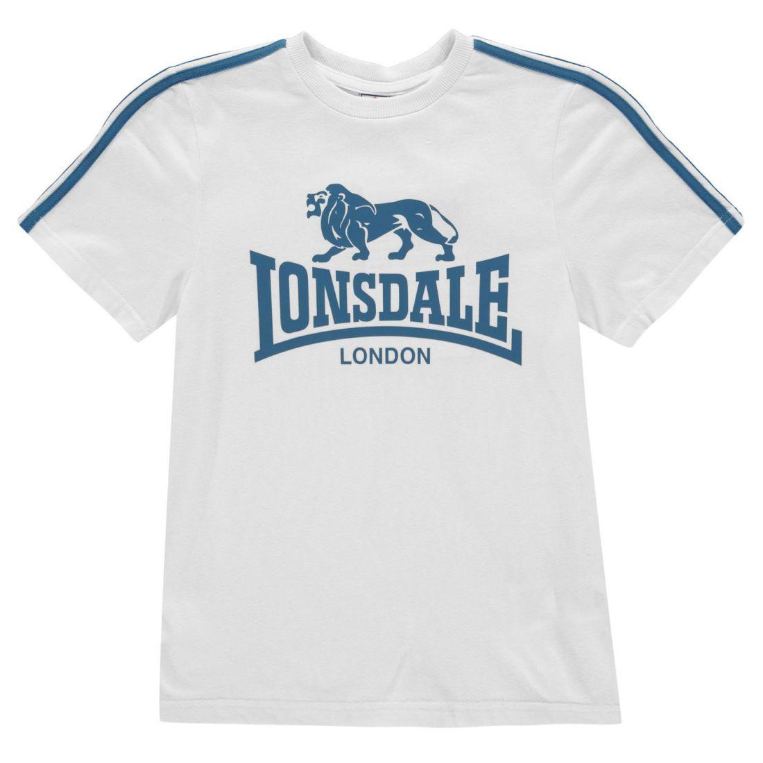 Details about Lonsdale Kids Boys Logo T Shirt Junior Crew Neck Tee Top  Short Sleeve 27d0547f824