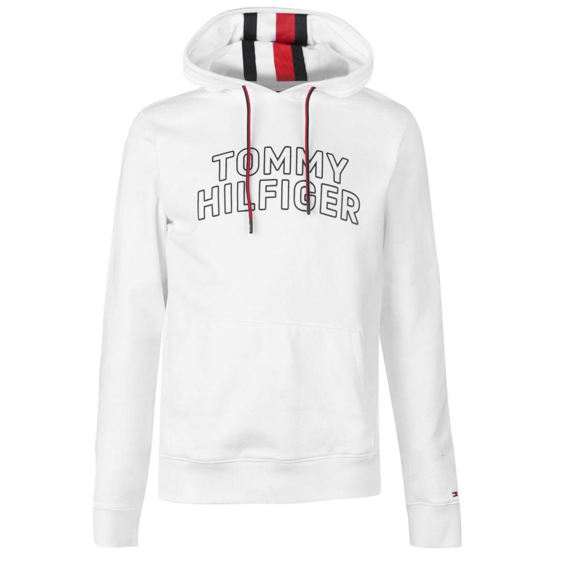 2ae11758 Mens Tommy Hilfiger Logo Hooded Sweatshirt OTH Hoodie Long ...