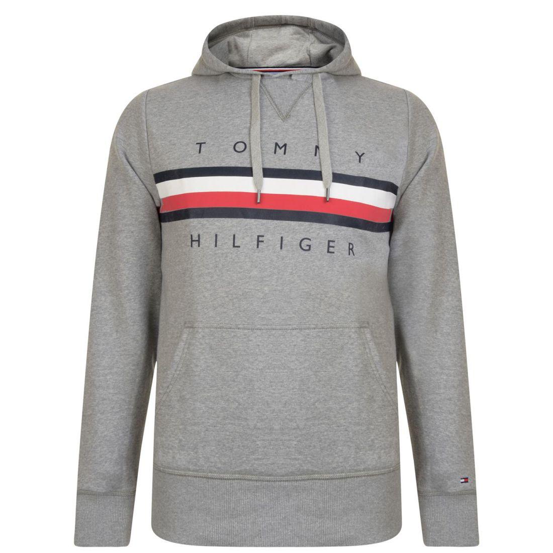 8d91c13c Image is loading Mens-Tommy-Hilfiger-Stripe-Logo-Hoodie-OTH-Long-