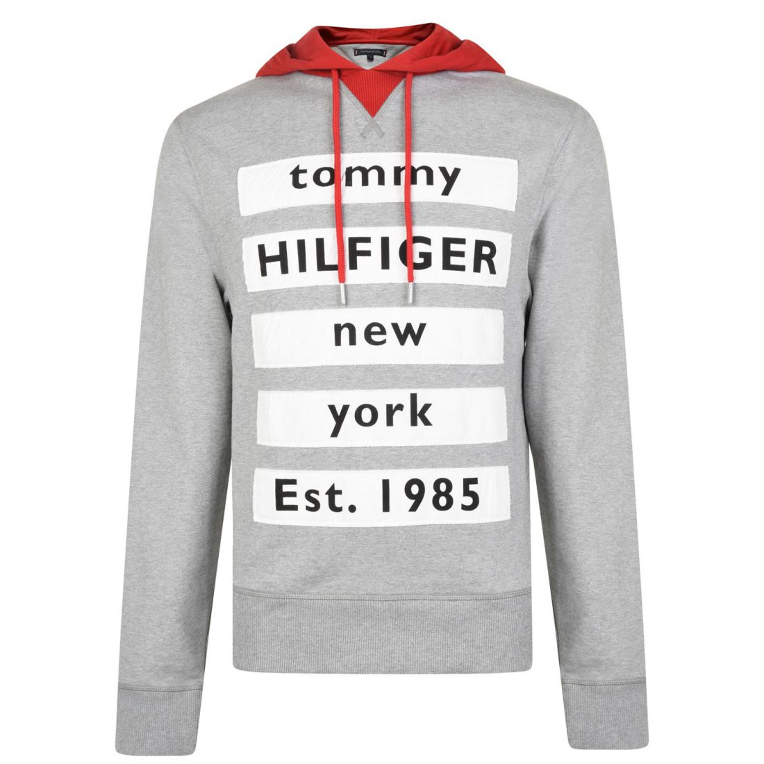 960646fe Image is loading Mens-Tommy-Hilfiger-Contrast-Hooded-Text-Sweatshirt-OTH-