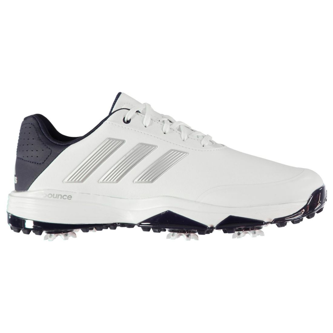 db1f2bdef742 adidas Mens Power Bounce Golf Shoes Spiked Lace Up Padded Ankle Collar  Tongue