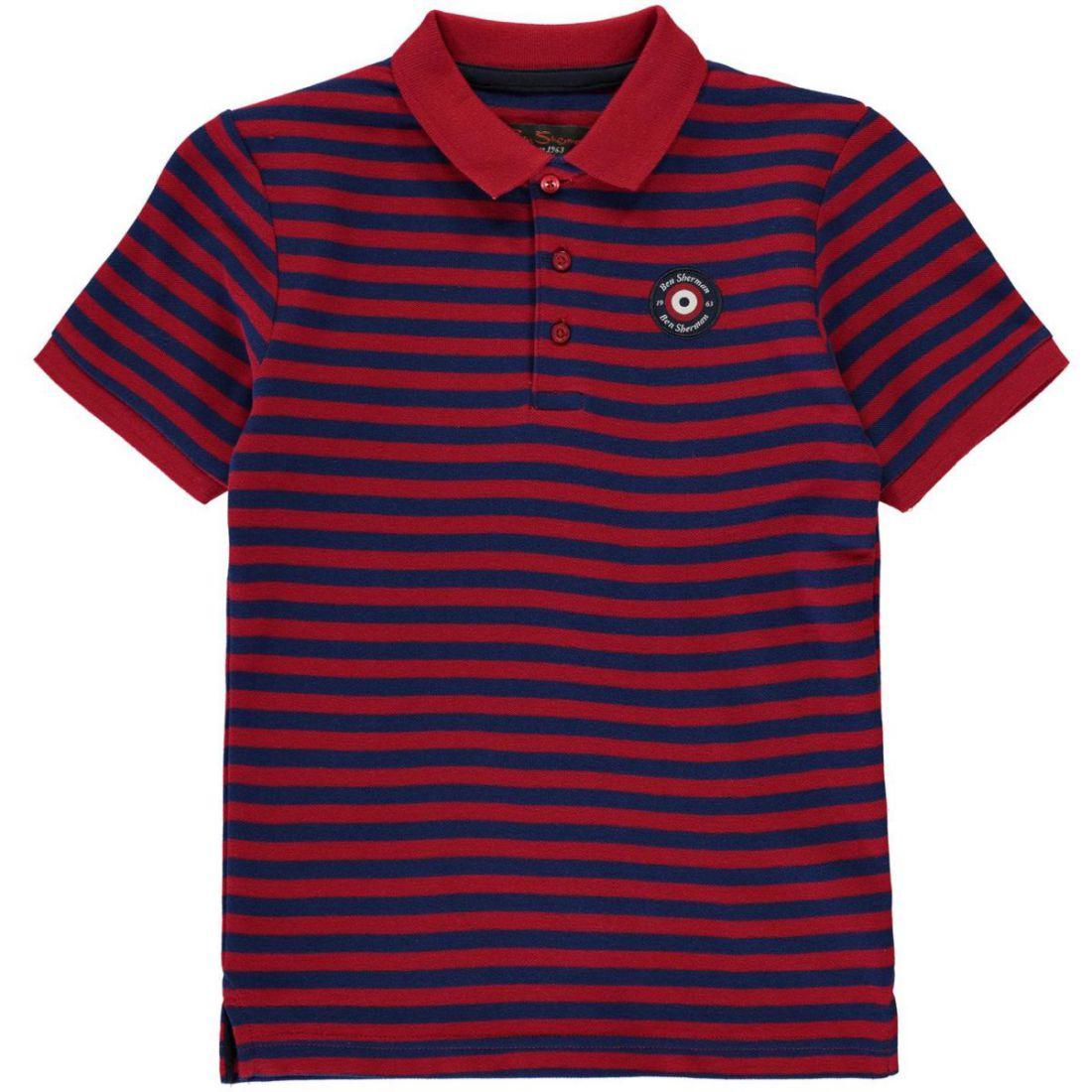f4dafc491 Kids Ben Sherman Stripe Target Polo Shirt Classic Fit Short Sleeve New