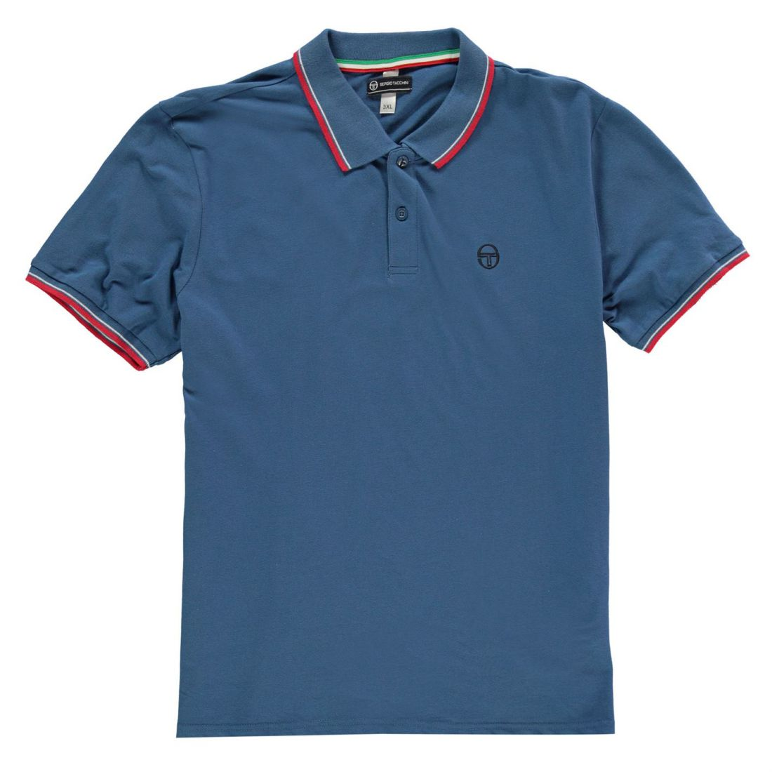 8b4954090 Details about Sergio Tacchini Mens Zuck Polo Shirt Classic Fit Tee Top  Short Sleeve