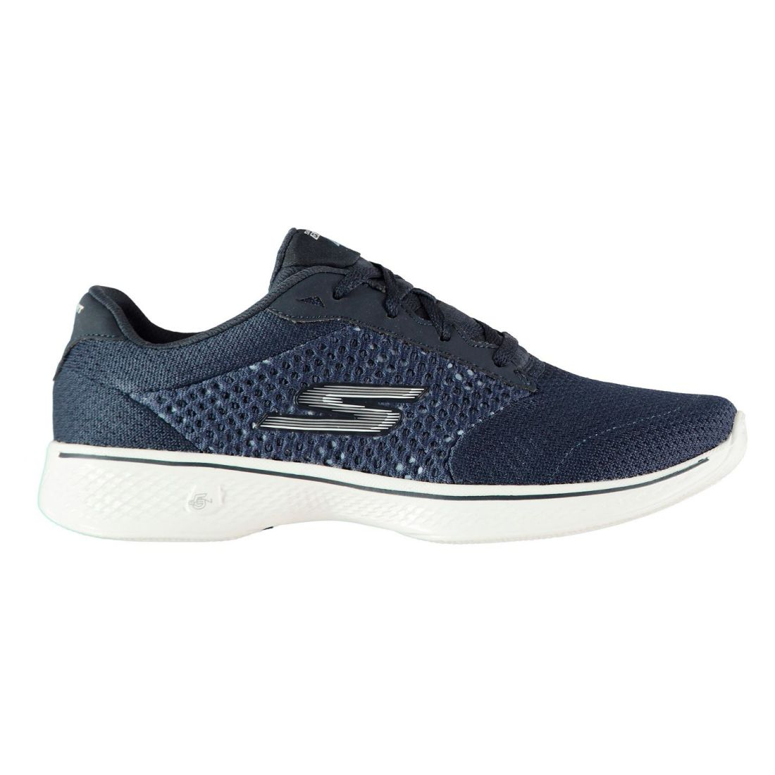 Skechers Womens Go Walk 4 Trainers Runners Lace Up Padded Ankle Collar Tongue