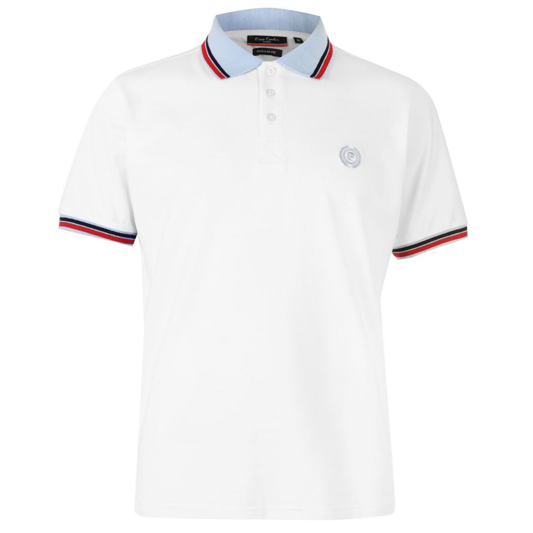 Pierre Cardin Mens Contrast Tipped Polo Shirt Classic Fit Tee Top
