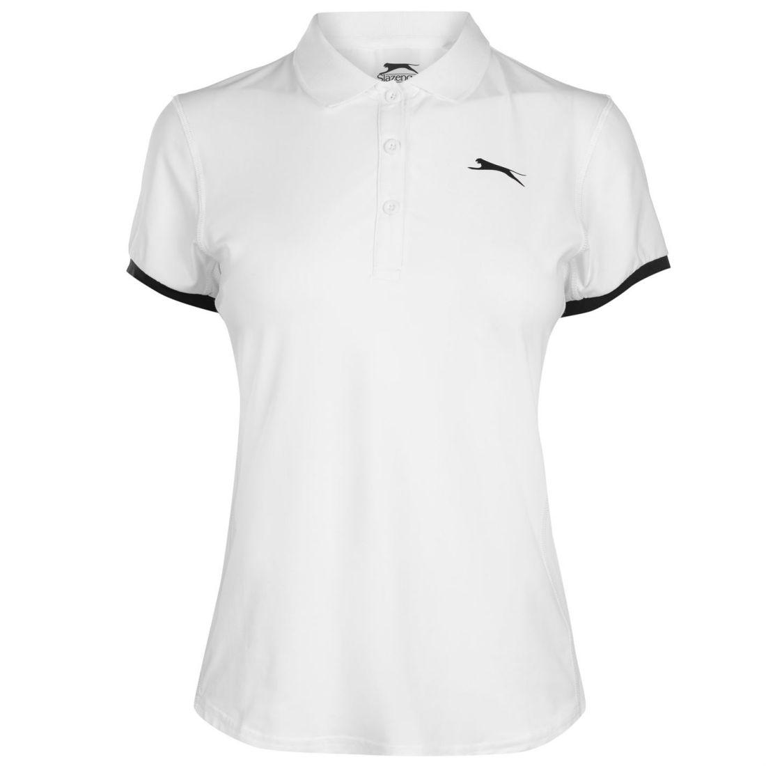 03fa5f12c Image is loading Slazenger-Court-Polo-Shirt-Ladies-Short-Sleeve-Performance-
