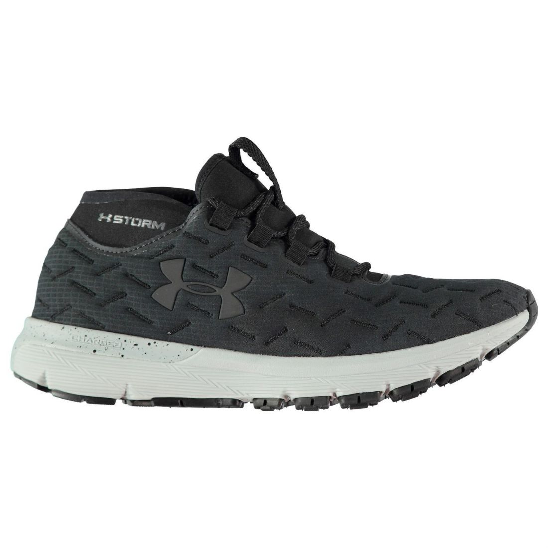 Armour Cordones Zapatos Hombres negro Charged Reactor Corredores gris Run Under Gents para correr H6OqHd