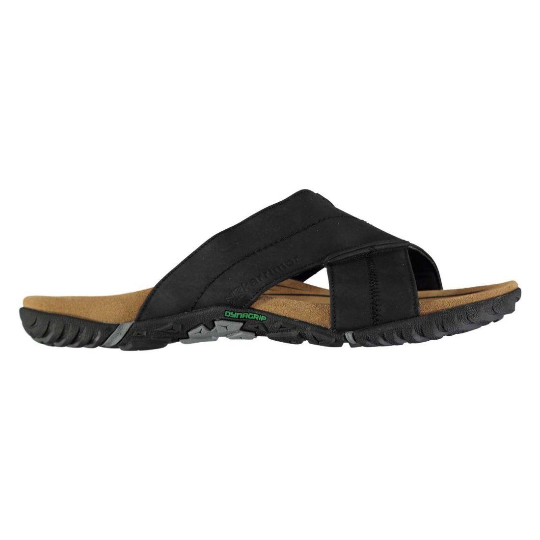 1cca84d225802c Karrimor Mens Lounge Slide Sandals Strap Leather Slipper Mules Flip ...