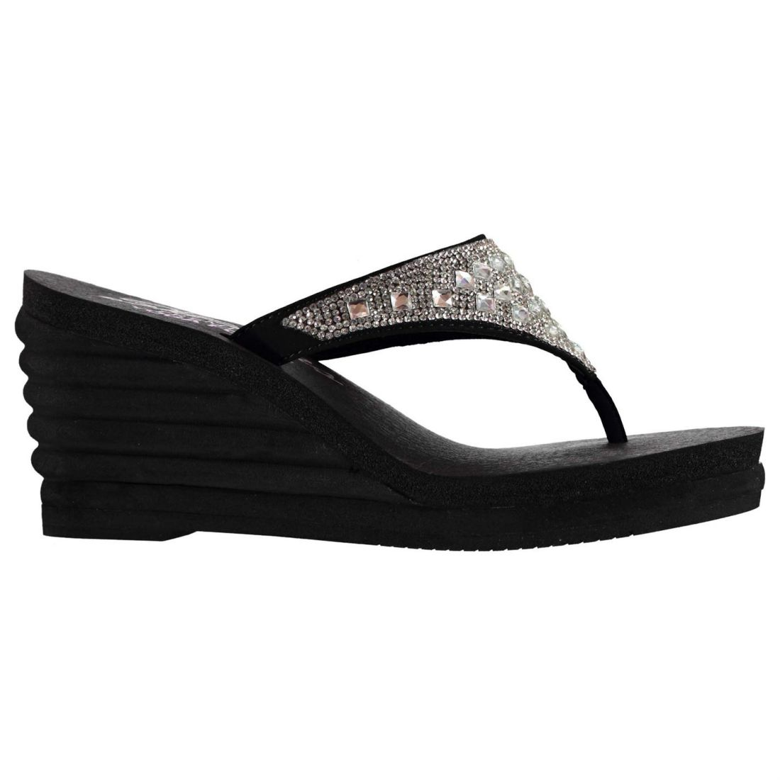 29798ebeb Skechers Womens Bohemian Ar Wedges Platform Sandals Summer Shoes ...