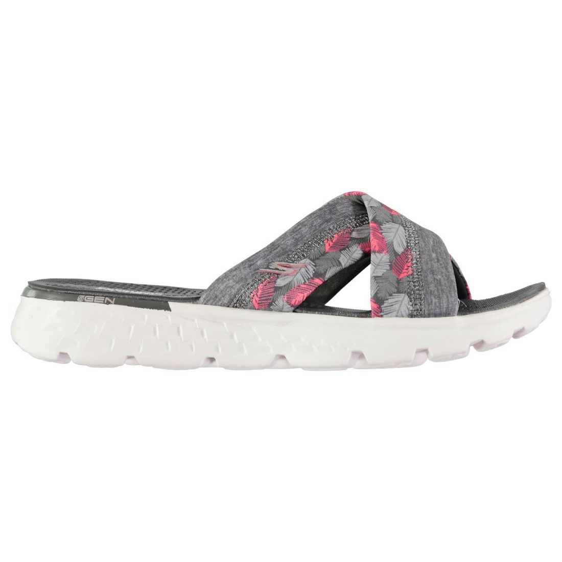 8346bc38c26 Details about Skechers Womens On The Go Tropical Flip Flops Slip  Lightweight Strap Open Toe