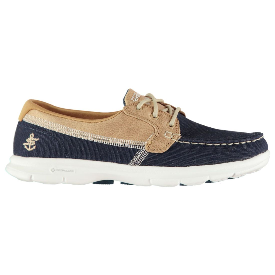 cde73202b3c75 Skechers Womens Goga Shore Shoes Casual Lace Up Lightweight Everyday ...