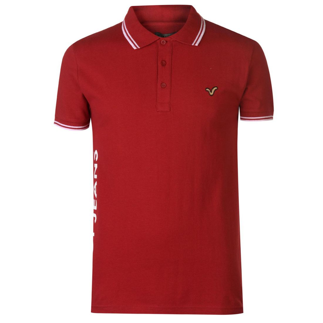 VOI-Mens-Side-Logo-Polo-Shirt-Slim-Fit-Tee-Top-Short-Sleeve-Lightweight-Cotton thumbnail 6