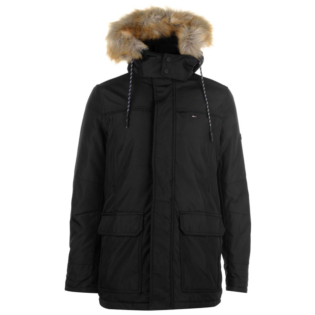 432aade5 Image is loading Mens-TOMMY-HILFIGER-Tommy-Tech-Fur-Parka-Jacket-