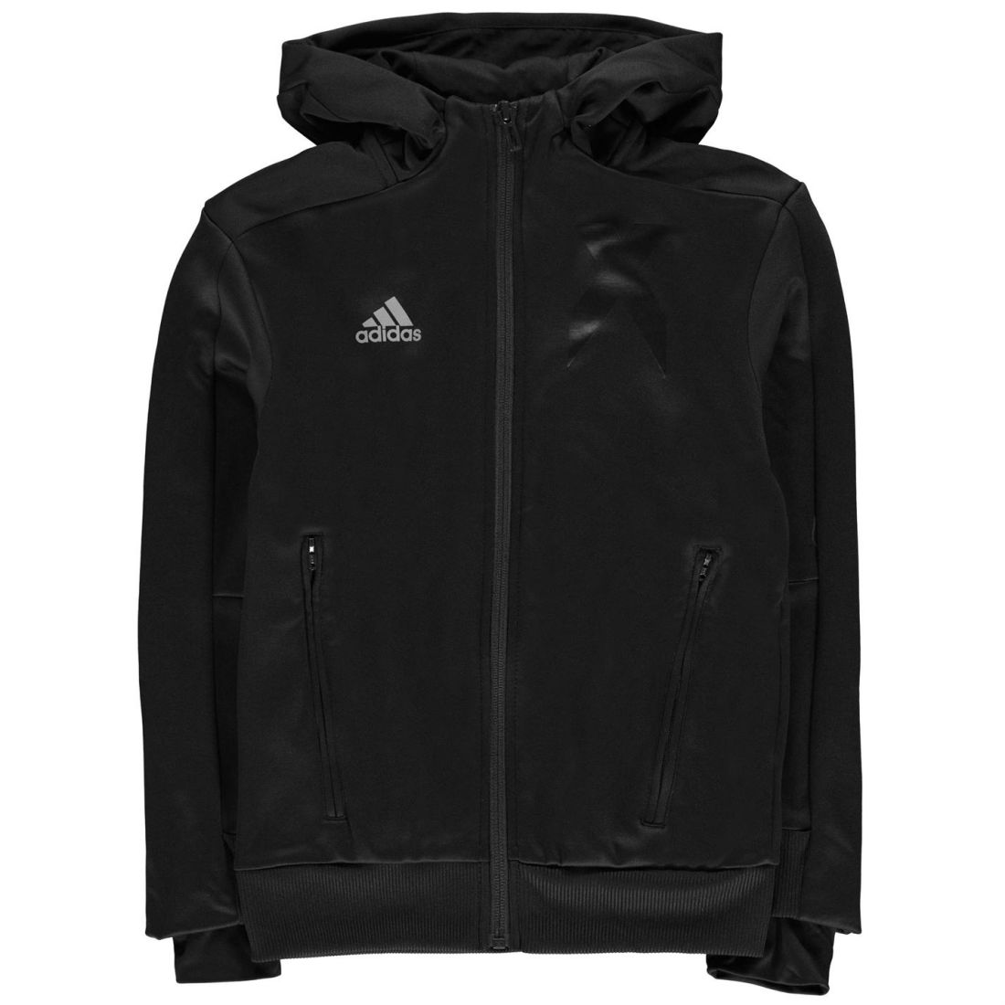 5fe9799037b6 adidas Kids Boys X Full Zipped Hoody Junior Tracksuit Top Hoodie Hooded Long