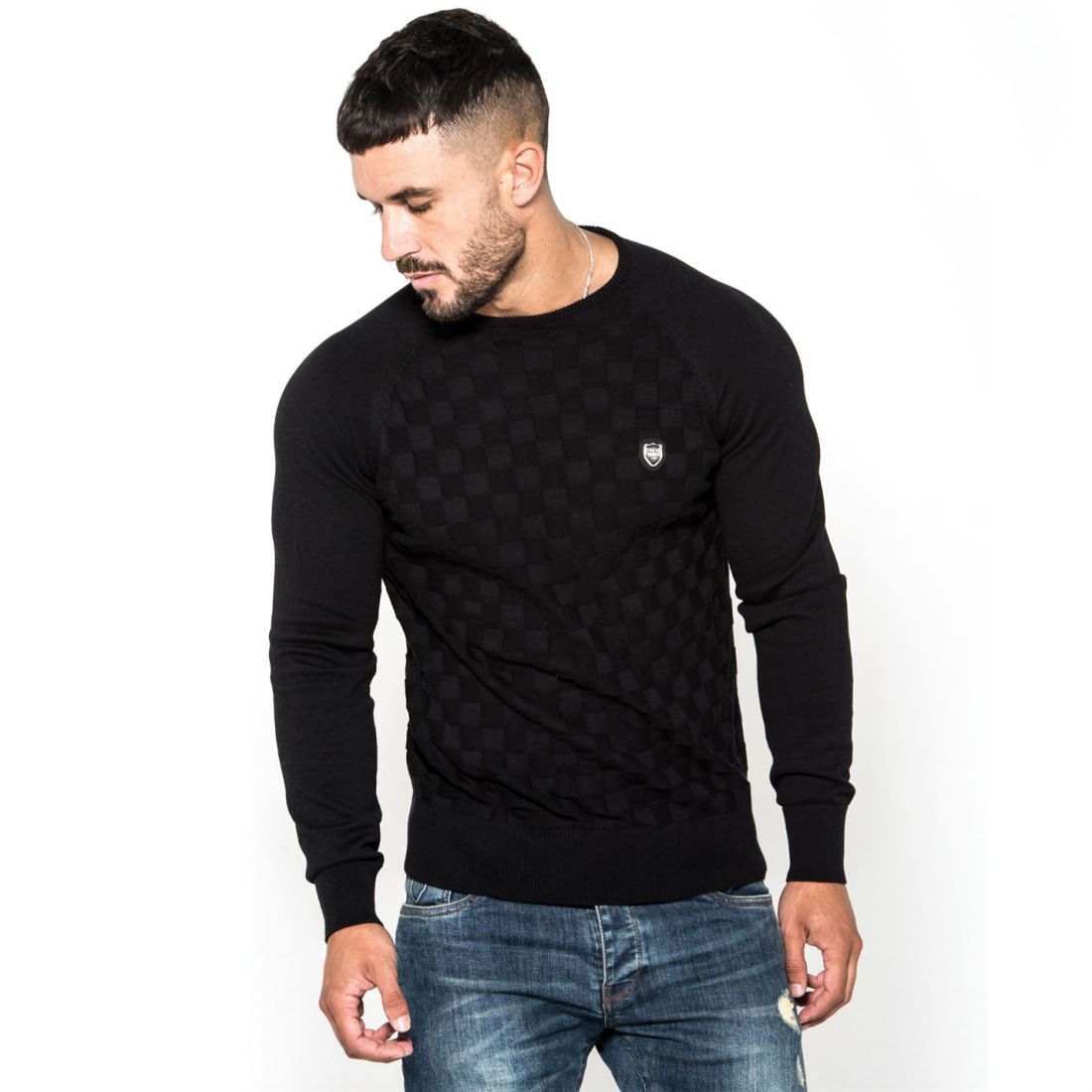 883 Police Charmer Knit Mens Gents Lined Knitwear