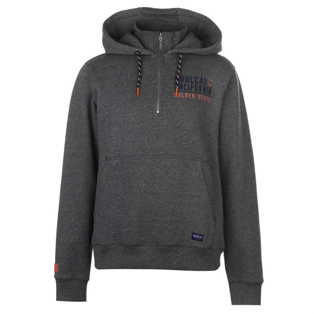 Details about SoulCal Mens Logo Zip Top Quarter Fleece Sweatshirt Jumper  Long Sleeve e1c9b4d1b