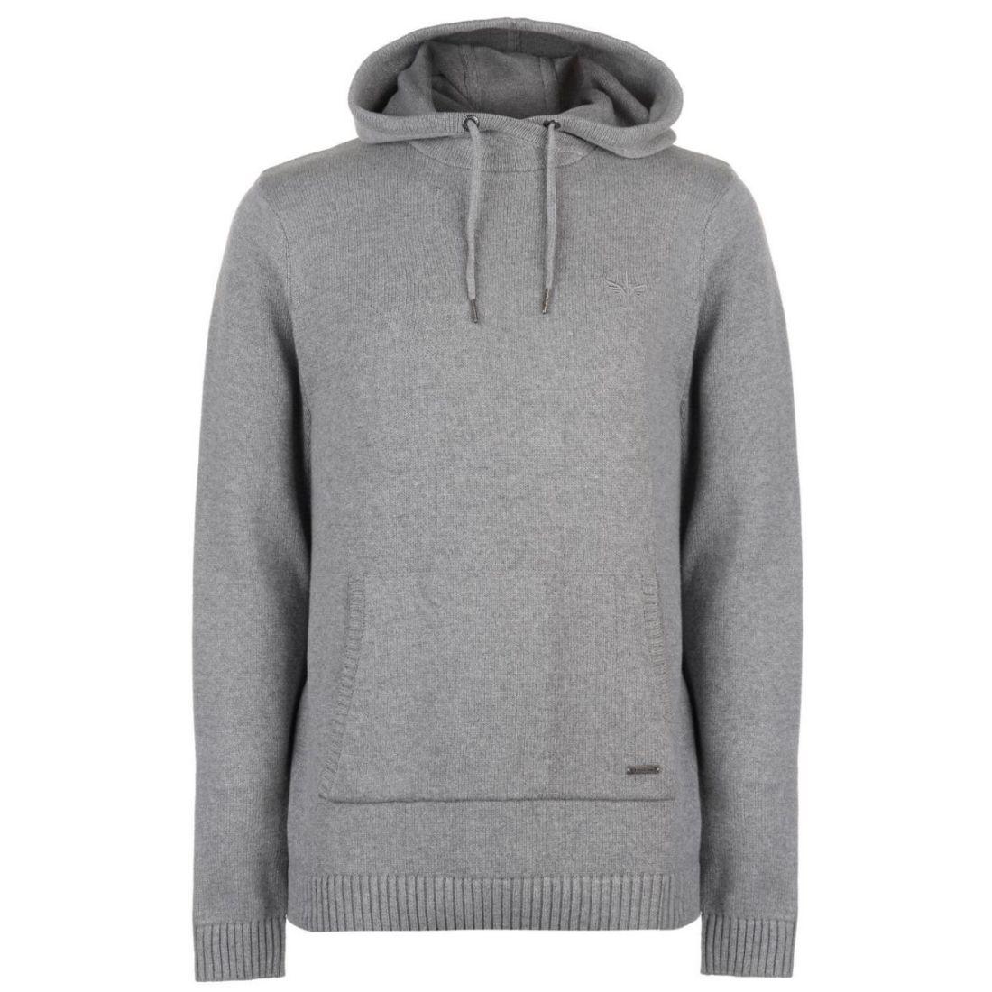 0e3b66c619 Firetrap Mens Hooded Knit Jumper Sweater Pullover Long Sleeve Cotton ...