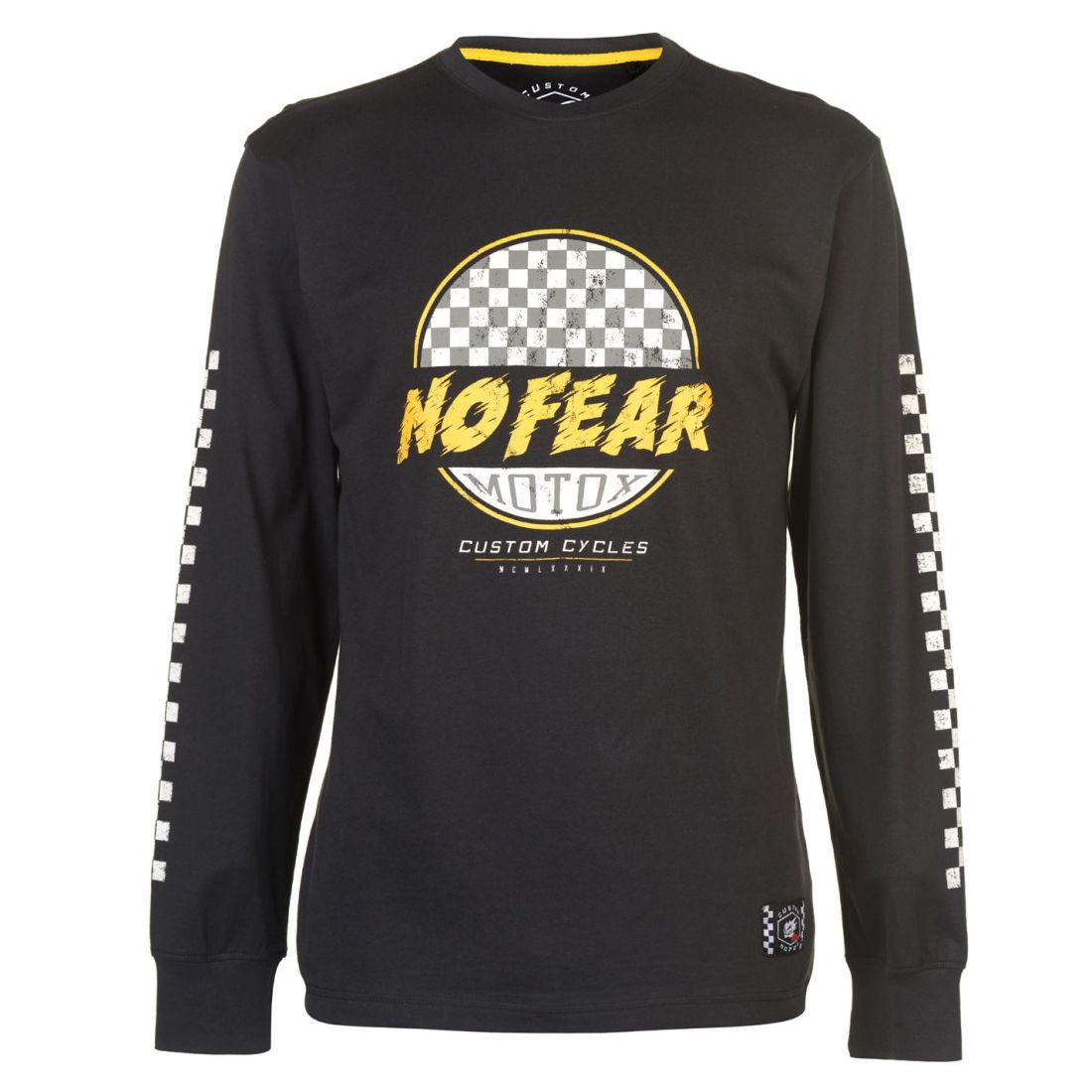05741ee1 No Fear Mens Custom Motox Long Sleeve T Shirt Top Round Neck ...