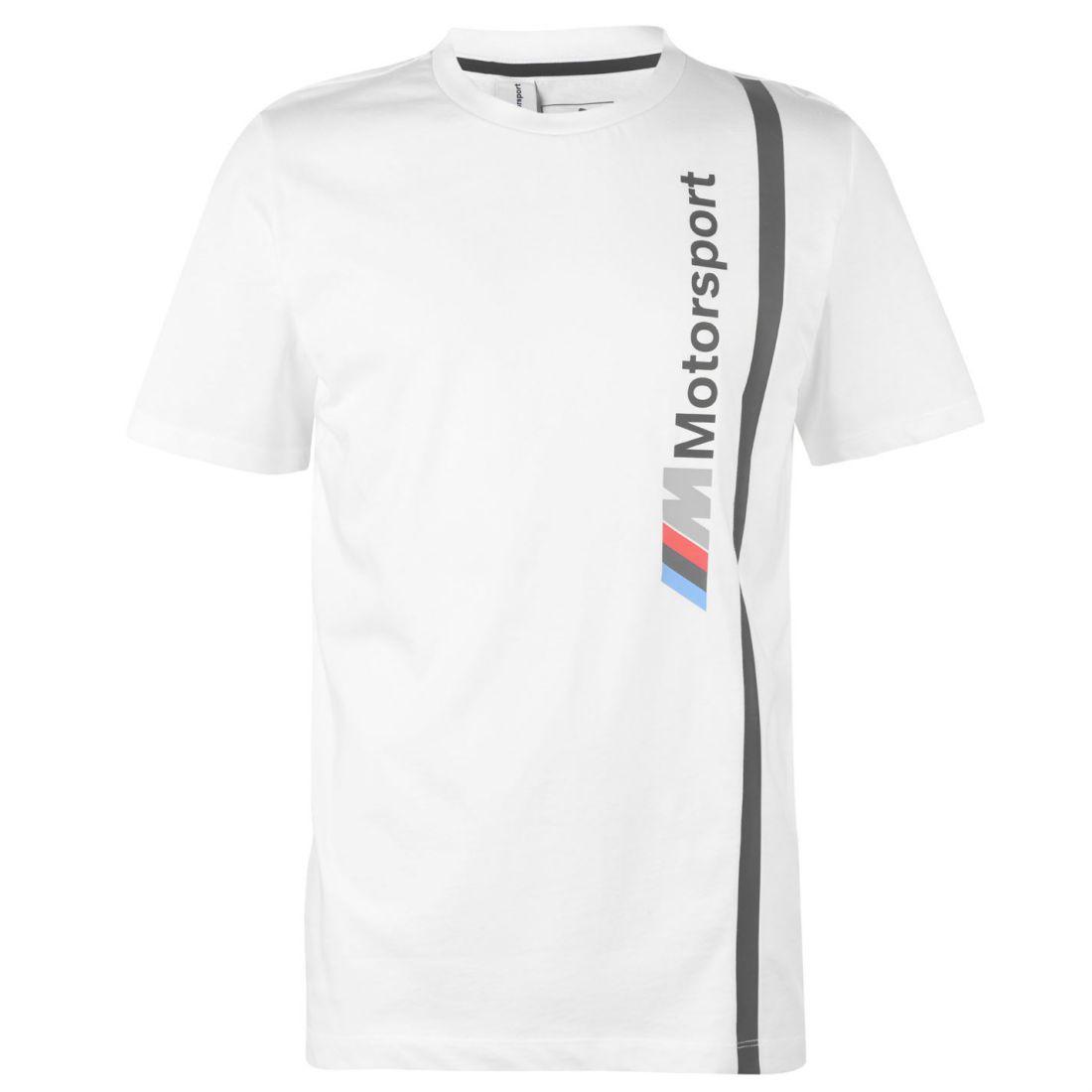 Puma Mens BMW Logo T Shirt Crew Neck Tee Top Short Sleeve Round ... 1a95ad375db