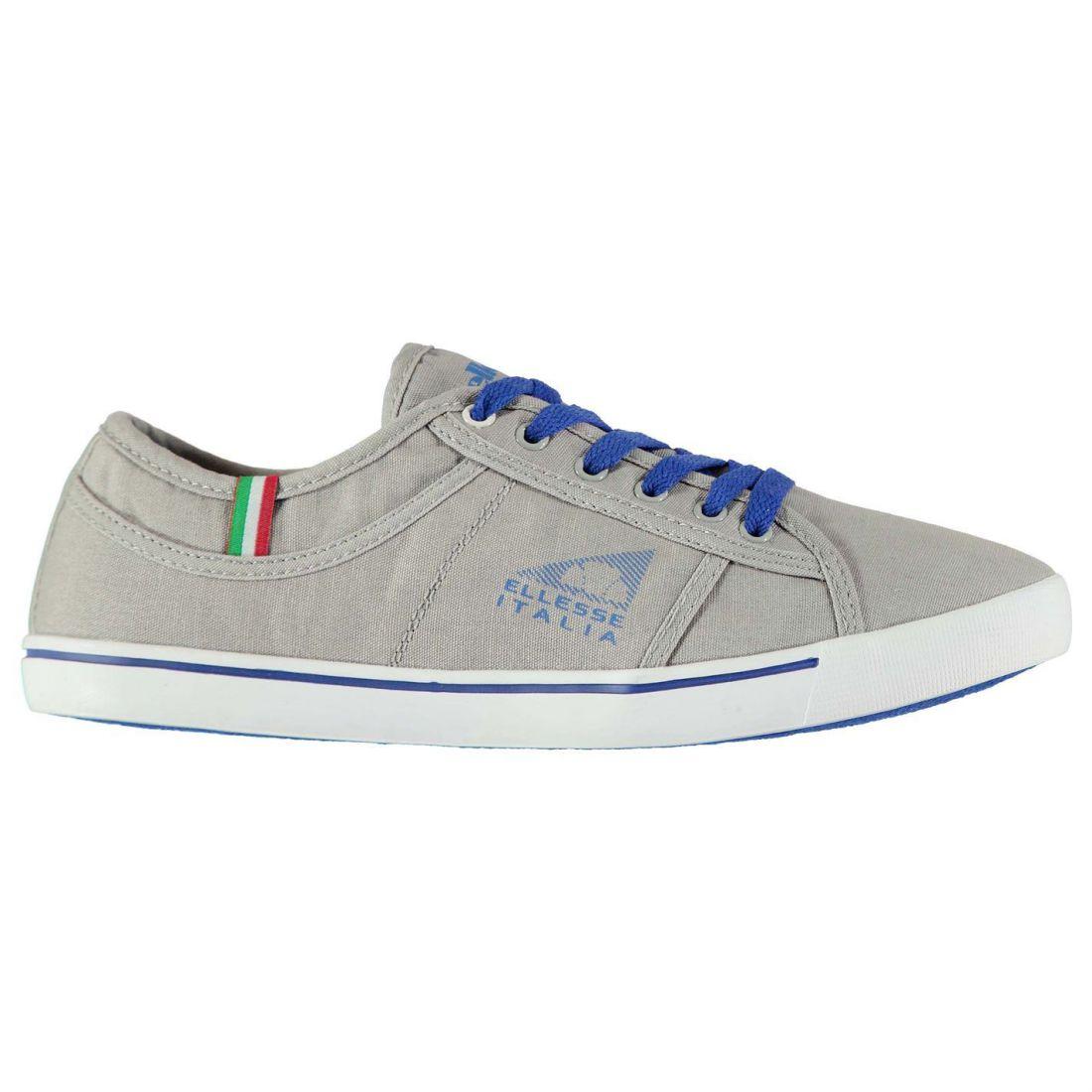 f9f11620cb Details about Ellesse Mens Caluso Shoes Canvas Low Lace Up Casual