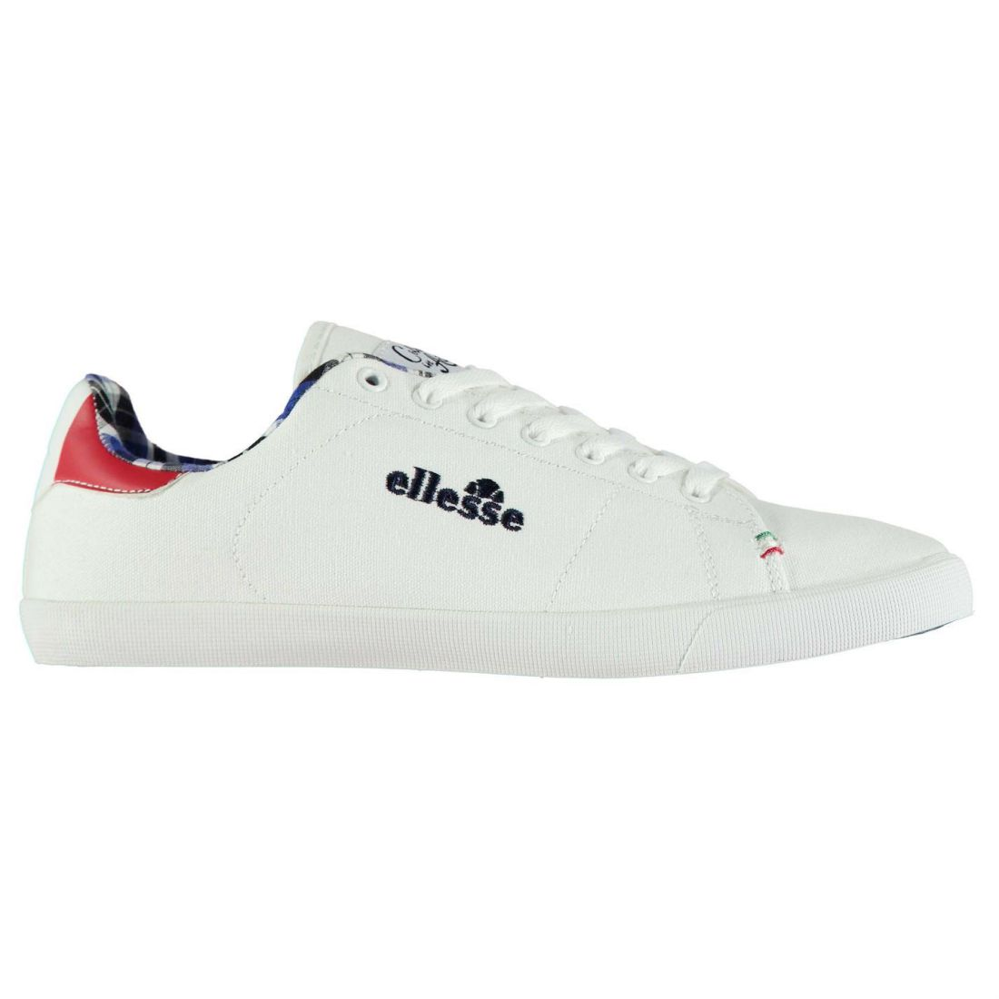 b5a36c7fd1a Ellesse Mota Shoe Mens Gents Canvas Low Shoes Laces Fastened Padded ...