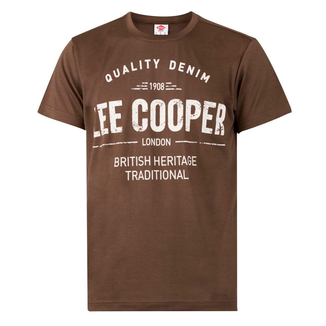 Lee-Cooper-Large-Logo-Stamp-T-Shirt-Mens-Gents-Crew-Neck-Tee-Top-Short-Sleeve thumbnail 3
