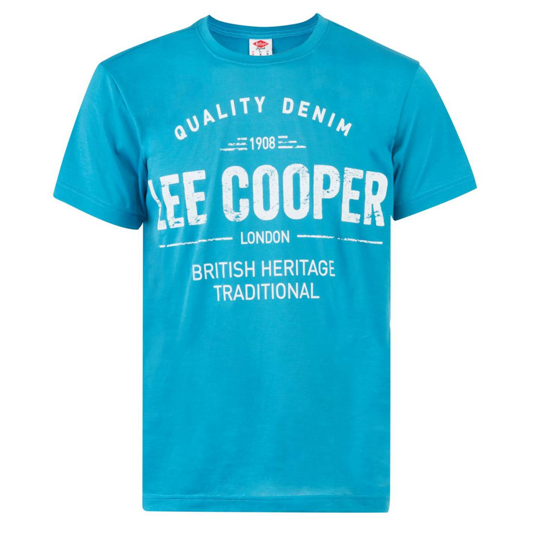 Lee-Cooper-Large-Logo-Stamp-T-Shirt-Mens-Gents-Crew-Neck-Tee-Top-Short-Sleeve thumbnail 4