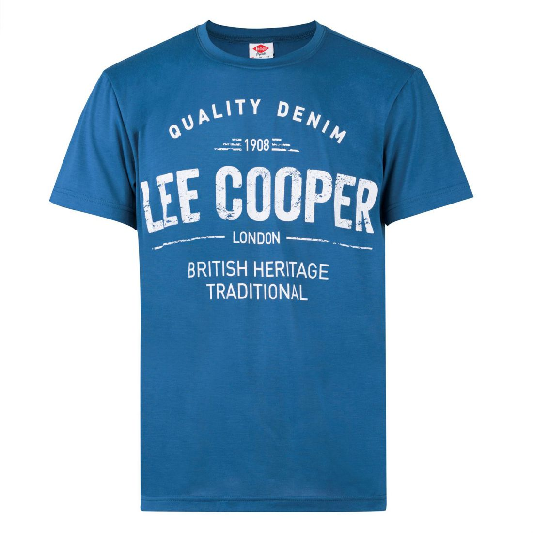 Lee-Cooper-Large-Logo-Stamp-T-Shirt-Mens-Gents-Crew-Neck-Tee-Top-Short-Sleeve thumbnail 5