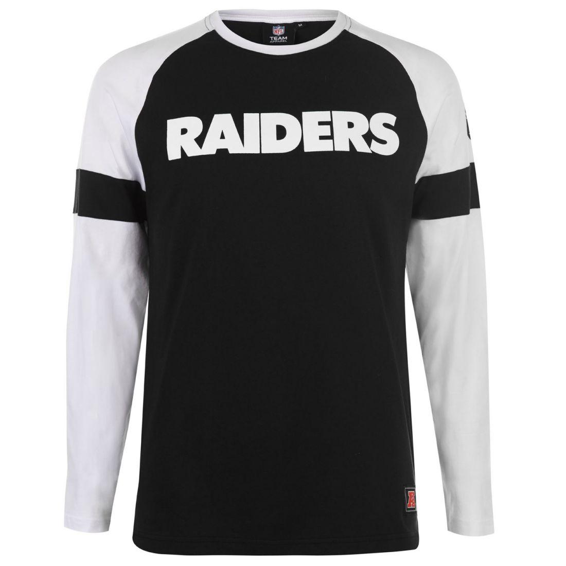 Mens NFL Long Sleeve Raglan T Shirt New