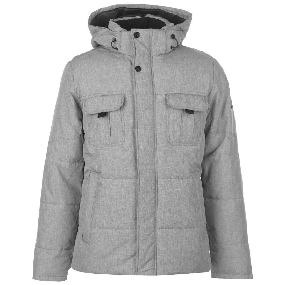 Mens Puffer Jacket JACK /& JONES Zoom Lightly Padded Funnel Neck  Zip Up Coat