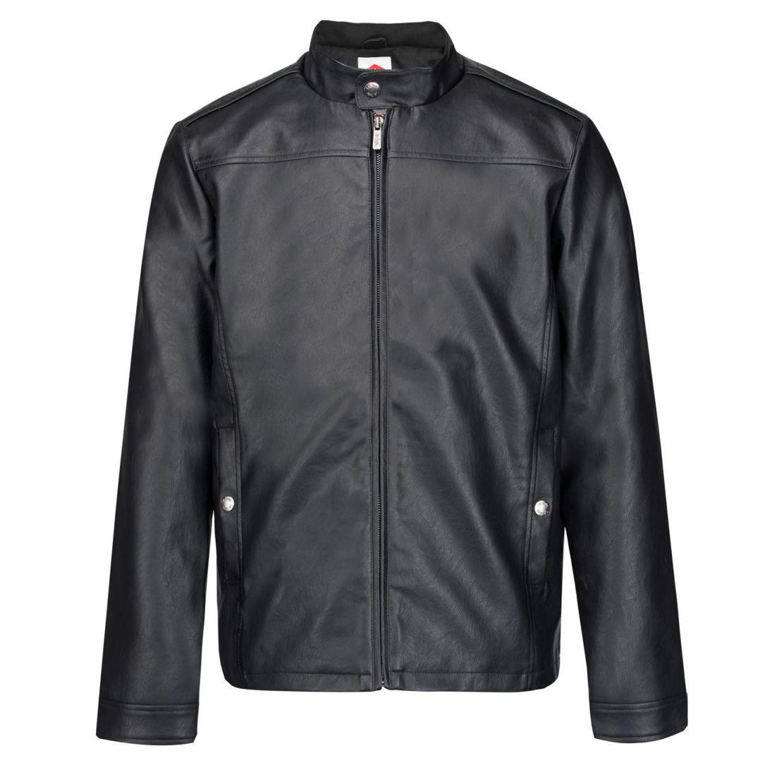 85d53005a Details about Lee Cooper PU Biker Jacket Mens Gents Leather Coat Top