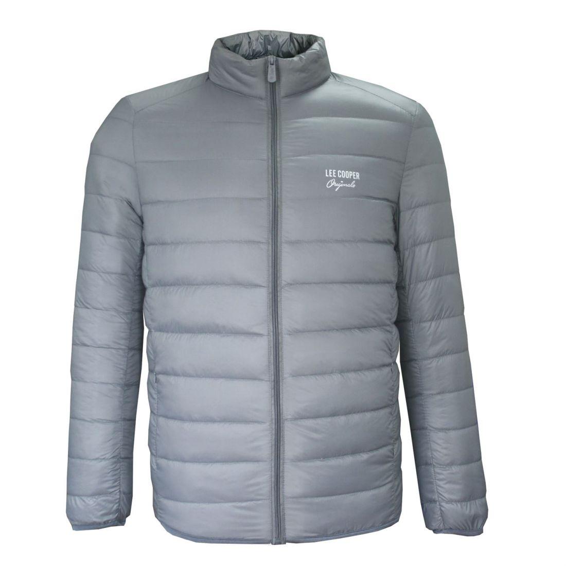Lee Cooper Mens Hooded Parka Jacket Coat Top Zip Full Warm