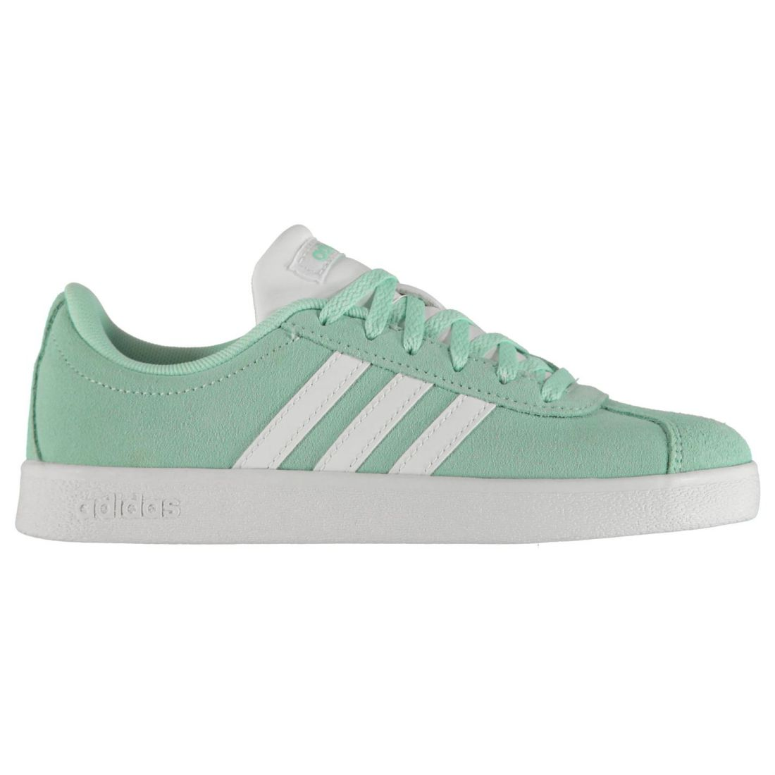 d4b6d59ccaa0 adidas Kids Girls VL Court Suede Shoes Child Trainers Lace Up Casual  Comfortable