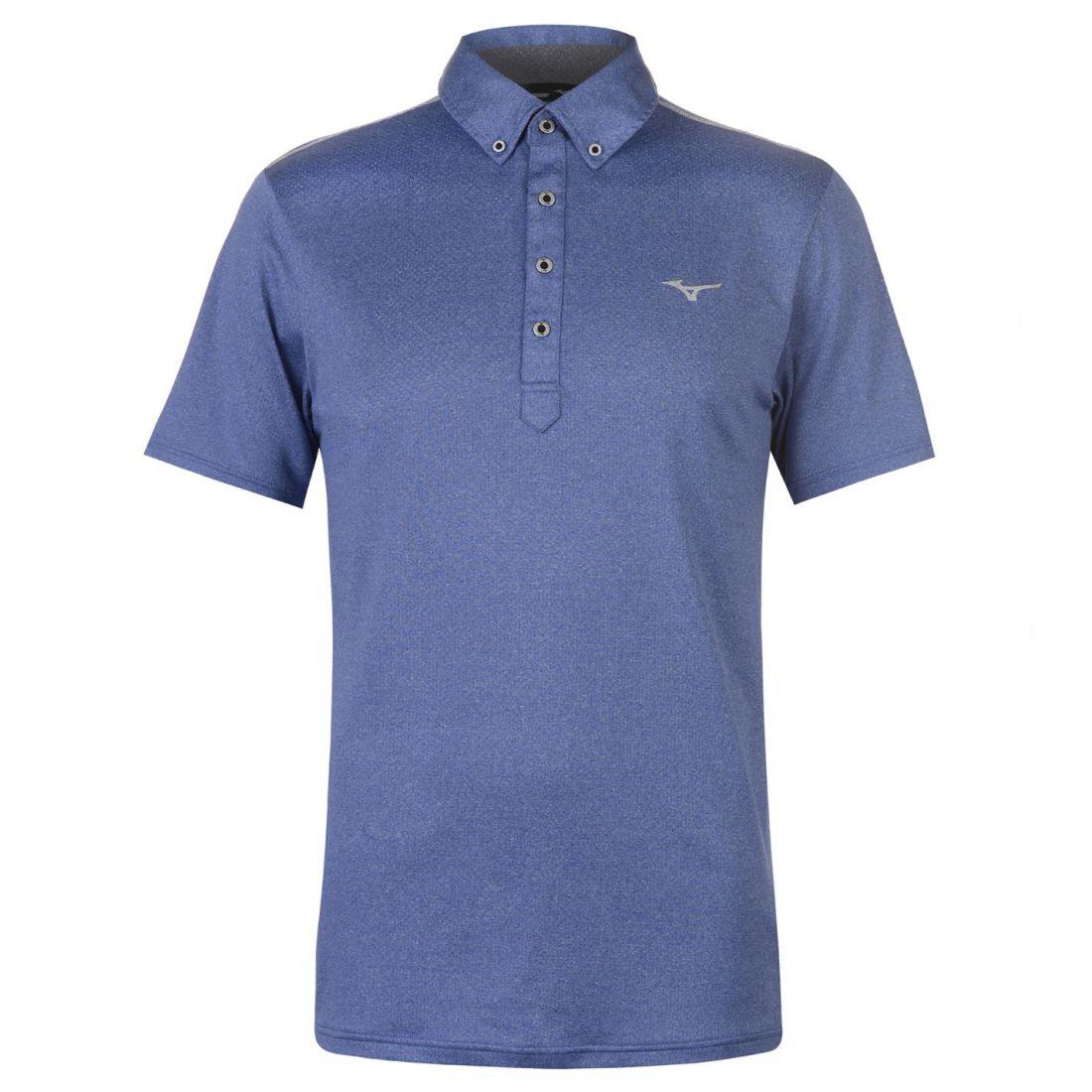 10e718189 Mizuno Mens Polo Shirt Short Sleeve Performance Tee Top Button ...