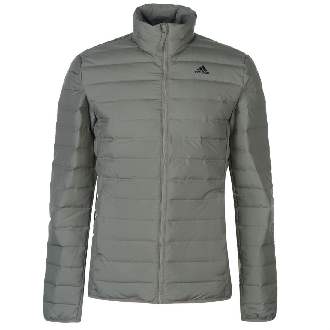 low priced a4b71 04149 adidas Mens Varilite Jacket Puffer Coat Top Long Sleeve Chin Guard Zip Full